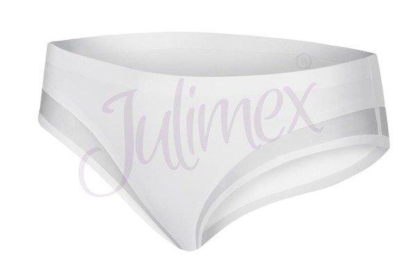 Majtki tai wykończone siateczką fancy Julimex białe