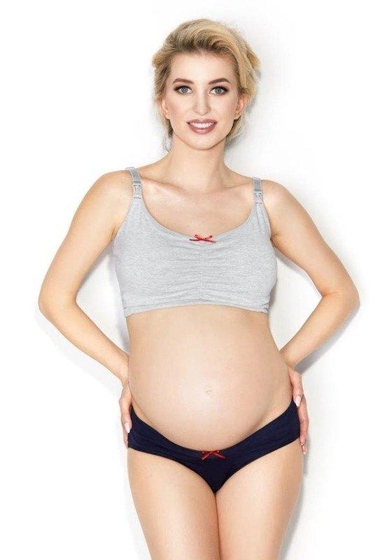 Biustonosz top ciążowy easy bra Mitex szary