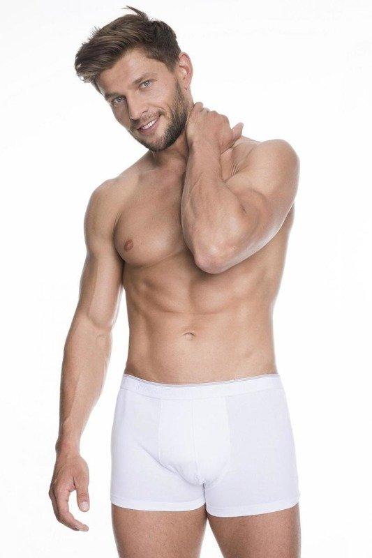 Bokserki męskie bawełniane iron Julimex białe